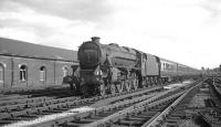 Black 5 45055 approaching Carlisle from the south with a train in 1966.<br><br>[K A Gray&nbsp;//1966]