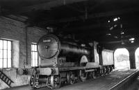 Caledonian 3P 4-4-0 54482 inside the shed at Wick in 1961. The locomotive is recorded as being officially withdrawn in March 1962. [Correction - originally shown as Aviemore]<br><br>[D Welsh Collection [Courtesy Bruce McCartney]&nbsp;//1961]