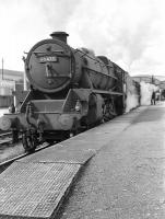 A southbound train from Inverness calls at Aviemore in 1958 hauled by a pair of Black 5s. Leading locomotive is 45475 of Perth shed.<br><br>[D Welsh Collection [Courtesy Bruce McCartney]&nbsp;//1958]