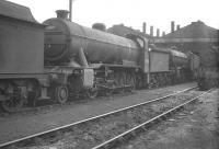 Gresley O2 2-8-0 63941 stands amongst the freight locomotive contingent on Doncaster shed in May 1961.<br><br>[K A Gray&nbsp;27/05/1961]