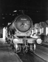 Scene inside the 2-road locomotive shed at Wick in 1961. Pickersgill ex-Caledonian 3P 4-4-0 54482 is a visitor from Inverness. The shed was officially closed in July 1962. [See image 52246] <br><br>[D Welsh Collection [Courtesy Bruce McCartney]&nbsp;//1961]