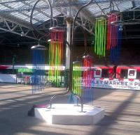 Sculpture by Charles Avery Tree no.5 (from the Jadindagadendar) currently at Edinburgh Waverley near Platform 2 for the Edinburgh Arts Festival.<br><br>[John Yellowlees&nbsp;17/08/2015]