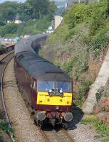 West Coast 47804 leads the <I>Royal Scotsman</I> stock into Burntisland with the Newcastle - Kingussie leg of a charter from London Victoria on 23 August.  47802 was on the rear of the train.<br><br>[Bill Roberton&nbsp;23/08/2015]
