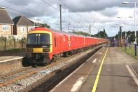 Three Class 325 Royal Mail units southbound through Leyland on 28 July with a Shieldmuir to Warrington service.<br><br>[John McIntyre&nbsp;28/07/2015]