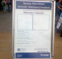 Service alteration notice at Waverley on 24 August 2015.<br><br>[John Yellowlees&nbsp;24/08/2015]