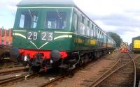 The Swindon Class 126, Britain's only surviving first-generation inter-city DMU, photographed on 29 August 2015 at SRPS Bo'ness.<br><br>[John Yellowlees&nbsp;29/08/2015]