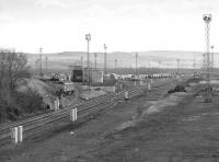 Looking south towards Millerhill Depot in March 1987, with the lifted Down Yard in the foreground.<br><br>[Bill Roberton&nbsp;18/03/1987]