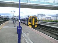 A look across the generously-platformed Stirling station in September 2015 showing, left to right, platforms 2, 3, 7 (with Glasgow-bound 158), 8, 6, 9 and 10. The photograph might have been better composed had I not just, like the young man from Dundee, been stung on the neck by a wasp (while failing to photograph a down freight).<br><br>[David Panton&nbsp;01/09/2015]