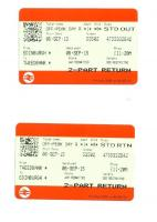 Return ticket from the opening day on the Borders Railway, 6 September 2015.<br><br>[John Yellowlees&nbsp;06/09/2015]