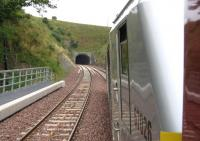 Looking back at the south portal of Bowshank Tunnel on 9th September.<br><br>[David Spaven&nbsp;09/09/2015]