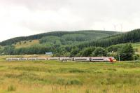 A nine-car <I>Pendolino</I> approaching the loops at Beattock Summit with a Glasgow to Euston service on 14 August 2015. <br><br>[Mark Bartlett 14/08/2015]