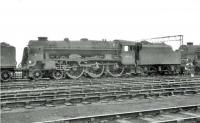 Rebuilt Royal Scot 46162 <I>Queen's Westminster Rifleman</I> photographed in the shed yard at Carlisle Kingmoor on 17 June 1964, a little over two weeks after official withdrawal.<br><br>[John Robin&nbsp;17/06/1964]
