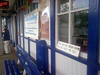The station building at North Queensferry has briefly been taken over from the 19th to 20th of September to promote the Darjeeling Railway.  For more details visit the <a target='external'  href='http://dhrs.org/page103.html'>Darjeeling Himalayan Railway Society</a> website.<br><br>[John Yellowlees&nbsp;19/09/2015]