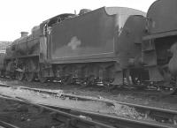 Locomotives stabled for the weekend in the shed yard at Tonbridge (73J) on Sunday 20 August 1961. Centre stage is Maunsell N1 2-6-0 no 31877.<br><br>[K A Gray&nbsp;20/08/1961]