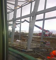 A 'Grab Shot' of the substantial construction works at Edinburgh Gateway station, due to open in December 2016. This will be ScotRail's first staffed new station (Bathgate and Edinburgh Park were staffed later).<br><br>[John Yellowlees&nbsp;23/09/2015]