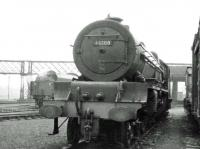 Stanier pacific 46200 <I>The Princess Royal</I> stored awaiting disposal in the sidings alongside Upperby shed in June 1964. The locomotive was cut up in the Calder scrapyard of Messrs Connell & Co at Coatbridge, some four months later.<br><br>[John Robin&nbsp;17/06/1964]