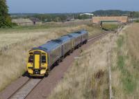 158720 and 158739 near Arniston  with the 11.12 from Edinburgh to Tweedbank.<br><br>[Bill Roberton&nbsp;27/09/2015]