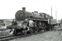BR Standard class 4 4-6-0 75051 in the shed yard at Carlisle Upperby in the summer of 1964. <br><br>[John Robin&nbsp;27/06/1964]