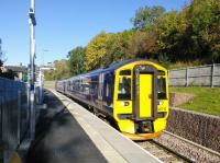 A Tweedbank service pulls away from Gorebridge on a day your photographer heard the words Indian summer so often he had to go and lie down.<br><br>[David Panton&nbsp;01/10/2015]