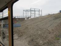 The new structure at Edinburgh Gateway rises. This is the construction site as viewed from a tram.<br><br>[John Yellowlees&nbsp;04/10/2015]