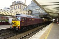 The Statesman West Highlander and Jacobite railtour arrives at Preston on 09 October 2015 whilst working from Bristol to Fort William. This was the first day of the tour which spent two nights in Fort William.<br><br>[John McIntyre&nbsp;09/10/2015]