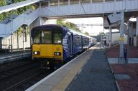 318258 has just terminated at Dalmuir with a service via Yoker on 08 October 2015. The unit then proceeded to the down siding where it coupled to another unit before returning eastwards via Singer.<br><br>[John McIntyre&nbsp;08/10/2015]