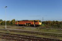 A Colas Permanent Way Tamper heading east past Didcot on 8th October 2015. This movement was probably in association with a large engineering possession in the Southampton area that generated other trains through Didcot on this date. <br><br>[Peter Todd 08/10/2015]