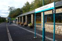 Dating from its Butlins days, Penychain may have the biggest 'bus shelter' of any Welsh station. It is currently brightly decorated with artwork from local schools.<br><br>[Colin McDonald&nbsp;14/10/2015]