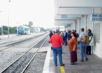 Waiting for a train at Bir Bou Rekba in November 1999. This is the junction for Hammamet on the metre-guage Tunis-Sousse line.<br><br>[John Thorn&nbsp;/11/1999]