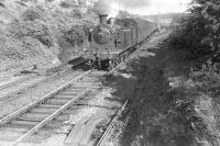 C16 4-4-2T 67500 runs through Knightswood North Junction on 24 May 1957 with a Bridgeton Central - Milngavie train. [Ref query 43993]  <br><br>[G H Robin collection by courtesy of the Mitchell Library, Glasgow&nbsp;24/05/1957]