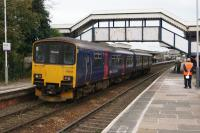 A Penzance to Plymouth stopping service arrives at St Erth on 16 October 2015.<br><br>[John McIntyre&nbsp;16/10/2015]