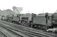 Locomotive lineup at Kingmoor shed on 24 June 1962. In the centre is 46223 <I>Princess Alice</I>.   <br><br>[John Robin&nbsp;24/06/1962]