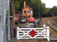 Something I thought I would never see - a parcel being delivered by a postman up the steps of a signal box. View towards Bridgnorth on 26 August 2015 [see image 9891].<br><br>[Ken Strachan&nbsp;26/08/2015]