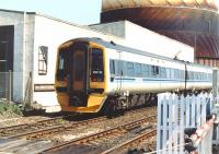 158718 has just cleared Camperdown level crossing, shortly after leaving Dundee station on 27 May 1992 with a service for Aberdeen.  <br><br>[John Furnevel&nbsp;27/05/1992]