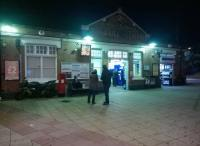 Solihull station forecourt looking lively on 31st October [see image 19012]<br><br>[Ken Strachan&nbsp;31/10/2015]