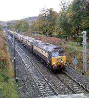 The Northern Bell on a Manchester Victoria to Edinburgh excursion approaches Abington taken on Saturday the 24th of October.<br><br>[Alastair McLellan&nbsp;24/10/2015]