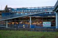 Seen here in the dusk on 7th November, major work on the bridge at Sandyford Street took place over the weekend of 7-8th November 2015, closing both Queen Street and Central Low level lines.<br><br>[Colin McDonald&nbsp;07/11/2015]