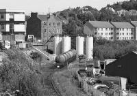View over the oil depot at Oban Goods on 5 July 1991. This siding was near the location of the turntable at Oban shed.<br><br>[Bill Roberton&nbsp;05/07/1991]