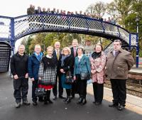 Photograph taken at the launch of the Highland Main Line Community Rail Partnership. [See news item]<br><br>[David Brown Photography&nbsp;09/11/2015]
