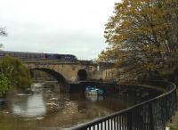 Bath Spa station is located between two bridges over the River Avon. An up HST [see image 45700] is seen heading East out of the station on 8th November.<br><br>[Ken Strachan&nbsp;08/11/2015]