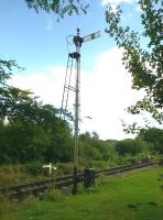 A homely signal to the South of Highley station in August 2015. There must have been thousands of scenes much like this throughout the UK.<br><br>[Ken Strachan&nbsp;26/08/2015]