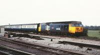 50036 Express bound for Paddington from the Oxford direction. 09 October 1982.<br><br>[Peter Todd 09/10/1982]