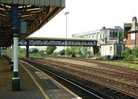 Platform view over the north side of Hove station on 17 May 2002. [Ref query 17798]<br><br>[Ian Dinmore&nbsp;17/05/2002]