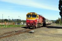 N class No. N472 'City of Sale' passing Gisborne, Victoria, with the Bendigo to Melbourne service.<br><br>[Colin Miller&nbsp;01/10/2015]