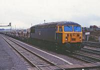 56040 running into Westbury Station with a loaded stone  train.<br><br>[Peter Todd&nbsp;17/12/1982]