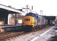 37252 northbound light engine through Trowbridge station on 10 March 1983.<br><br>[Peter Todd&nbsp;10/03/1983]