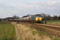 WCRC 57316 heads west from Mintholme LC towards Gregson Lane with a charter train on 20 April 2013. Bringing up the rear was 57601.<br><br>[John McIntyre&nbsp;20/04/2013]