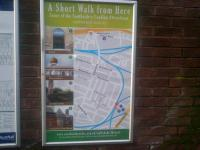 This project led by James Dornan MSP has provided posters for over half-a-dozen suburban stations south of the Clyde featuring local attractions. Here's the one at Pollokshields East.<br><br>[John Yellowlees&nbsp;17/12/2015]