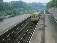 Eastbound DMU through Hessle bound for Hull at 1625 hours on 05 June 1982.<br><br>[Peter Todd&nbsp;05/06/1982]