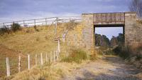 A GNSR overbridge near Nethy Bridge, on the south side heading to the River Spey.<br><br>[Peter Todd&nbsp;07/05/1982]